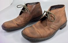 Born Ankle Boots Men's Size 10.5 M Brown Harrison Casual Plain Toe Leather #Born #AnkleBoots