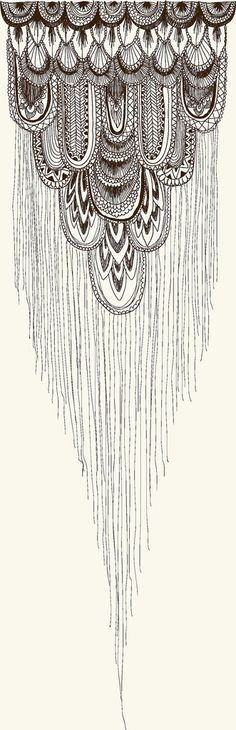 Probably too mich detail, but would be interesting as a shoulder-tattoo as if its dangling down the upper arm!