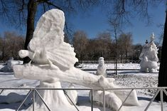 Impresionantes Esculturas De Invierno | Arte Helsinki, Chicago Snow, Snow Sculptures, Days In February, Rail Car, Harbin, Snow And Ice, Always Learning, My Images