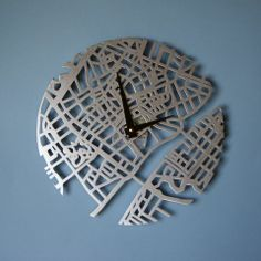 Every city has its own artistic flavor, and Urban Story clocks pay homage to the often under-examined creative character of urban life. These brushed metal timepieces. Copenhagen Map, Urban Stories, Metal Clock, Urban Life, Brushed Metal, Tech Accessories, Design, Clocks, London