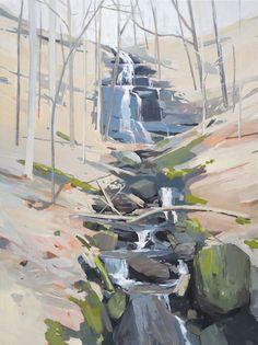 Falls, acrylic on panel, 2015