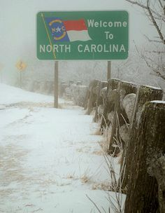 NC State Line Sign