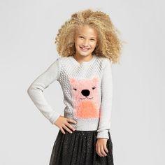 Girls' Icon Pullover Cat & Jack™ - Light Heather Grey : Target