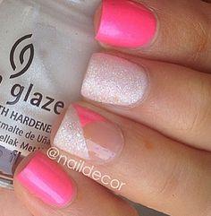 Hot summer nail designs for toes. nails ideas by denise on november hot summer nail designs for toes Get Nails, Fancy Nails, Love Nails, Pink Nails, How To Do Nails, Pretty Nails, White Nails, Nails Polish, New Nail Art