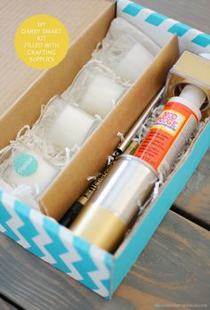 Check out what's in the Pudewa gilded votives kit! Bottle Vase, Glass Vase, Diy Mod Podge, Darby Smart, Love Craft, Glass Containers, Gift Baskets, Craft Supplies, Kit