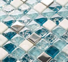 Crackle Glass Mosaic Tile   TST Mosaic Tiles