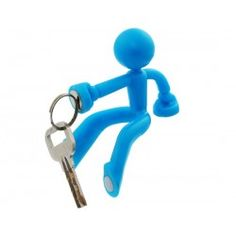 Blue Human Figure Magnetic Key holder Cute Hook Home Decor Door Accessory Gift
