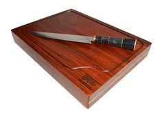 Tabua de Carne para churrasco em madeira maciça Jatobá Personalizada com Marchetaria  Cutting Board