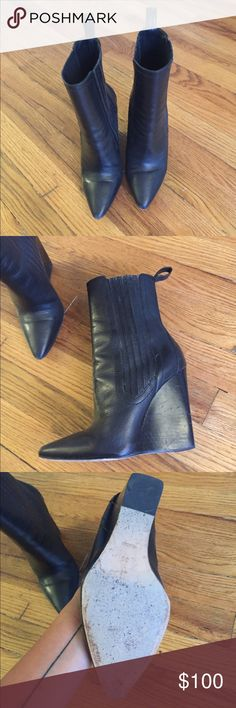 Alexander wang wedge boots Good condition. Make me an offer. Alexander Wang Shoes Ankle Boots & Booties