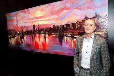 Paul Kenton at the preview evening of his Capital Impressions exhibition #art #London Paul Kenton, Gcse 2015, Fine Art, London, Picture Wall, Art, Visual Arts, London England