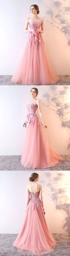 New Arrival Pink Stylish tulle lace long prom dress, lace evening dress,MB 501