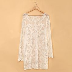 2014 Fashion Womens Sexy Lace Crochet Long Sleeve by YoungssShop