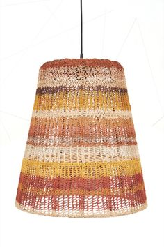 This hand woven pendant is part of a collection of Yuta Badayala lights developed by Koskela in collaboration with the Yolngu weavers from Elcho Island Arts. The collaboration, a first of its kind, uses traditional weaving techniques used in Arnhem Land to create a truly beautiful and contemporary design product.