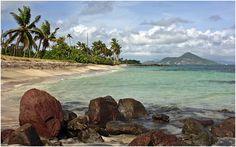 View of sister island St. Kitts from Nisbet Plantation Beach Club, Nevis #Caribbean nisbetplantation.com