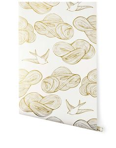 Daydream (Gold) from Hygge. I'm in Looove with this wallpaper. #HyggeAndWestPinToWin