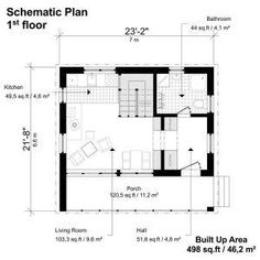 Modern Home Building Plans - Pin-Up Houses Building Costs, Building Plans, Building A House, Small House Floor Plans, House Plans, Architecture Plan, Modern House Design, T 4, Home Renovation