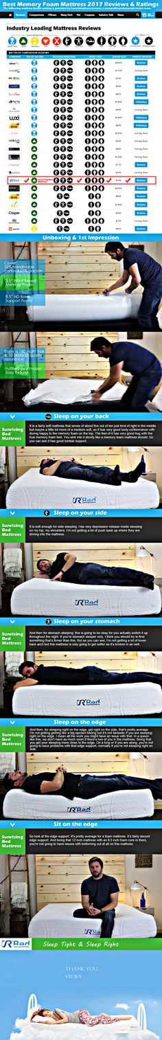Best memory foam mattress 2017 reviews & Ratings  #sleep #bed #mattress #bedding #bedroom #lifestyle #life  #mattress #beds #bedding #memoryfoammattress #homeideas #ieke #mattressreviews #bedroom #bedroomidears