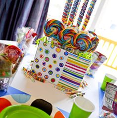from lollipops to animal crackers, each table provides activities and goodies- both healthy and not so healthy - that will make any child feel especially included in your special event.
