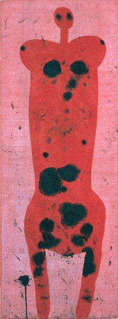 Korniss Dezső: Ellentét II., 1947, olaj, vászon,  126 x 48 cm