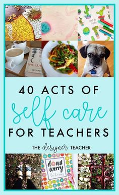As teachers, we spend all day nurturing and taking care of our students, but sometimes we neglect ourselves! Here are 40 ways to practice self-care, starting with the least time-consuming and least expensive ideas.