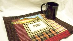 FISH 13 x 11 quilted mug mat by quiltingcafe on Etsy, $12.00. Great for cabin or cottage; on the wall or on the table.