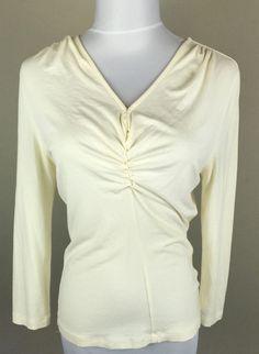Talbots P Off White Stretch Women's Shirt Top | eBay