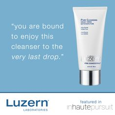 """Luzern Laboratories Pure Cleansing Creme, Blogger Favorite """"You are bound to enjoy this cleanser to the very last drop,"""" - inhautepursuit  #BloggerFavorite @luzernlaboratories #luzernlabs #behatiprinsloo #canyonranch #cleansingcreme #foamfree #sulfatefree #toxic12free #parabenfree #purecosmeceuticals #harpersbazaar #luzernlaboratoriesaustralia #cleansing #gentlecleanser #cleanse #skincare #bestskin #bestskincare #bestcleanser #skinfit #skinready #oscars"""