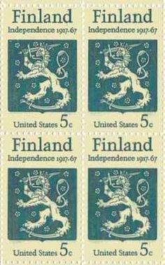 Finland Independence Set of 4 x 5 Cent US Postage Stamps NEW Scot 1334 . $4.70. One set of four (4)Finland Independence   4 x 5 Cent postage stamps Scot #1334