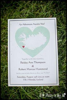 May and Belle Australia Destination Wedding Invitation Map for Iceland Wedding Vik Beach Photos by Miss Ann