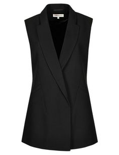 Buy the Sleeveless Blazer from Marks and Spencer's range. Sleevless Blazer, Blazer Vest, Sleeveless Jacket, Blazer Outfits, Blazer Fashion, Hijab Fashion, Casual Outfits, Fashion Outfits, Sleeveless Blazer Outfit