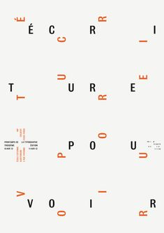 Pattern of type. Typography Layout, Typography Letters, Lettering, Typo Poster, Typographic Poster, Design Graphique, Art Graphique, Graphic Design Posters, Graphic Design Typography