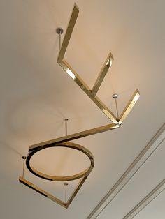 Leslie Hahn Design-ceiling LOVE light