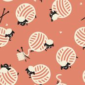 Knit Sheep custom fabric by ginamayes for sale on Spoonflower Yarn Tattoo, Sheep Tattoo, Twin Tattoos, Pattern Wallpaper, Custom Fabric, Spoonflower, Mittens, Tatting, Craft Projects