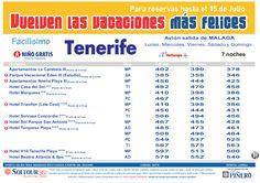 Tenerife - Las vacaciones mas felices sep-oct. Hoteles en Tenerife salidas desde Málaga - http://zocotours.com/tenerife-las-vacaciones-mas-felices-sep-oct-hoteles-en-tenerife-salidas-desde-malaga/