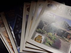 Lot of 8 David Winter Cottages Collectors Guild Country Magazines