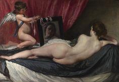 """Diego Velasquez """"La vénus au miroir"""" vers 1647-1651"""