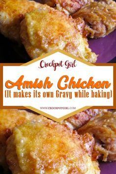 Amish Recipes, Meat Recipes, Slow Cooker Recipes, Crockpot Recipes, Cooking Recipes, Recipies, Dutch Recipes, Meatloaf Recipes, Copycat Recipes