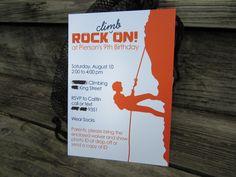 Birthdays Rock Free Printable Birthday InvitationsBirthday Party InvitationsRock Climbing