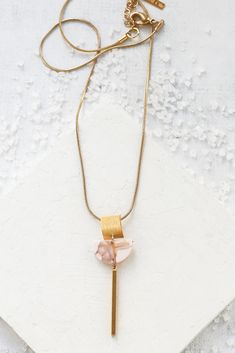 Rhea Necklace | Santorini Sunset Collection Short Necklace, Boho Necklace, Gemstone Necklace, Necklace Lengths, Arrow Necklace, Pendant Necklace, Chevron Necklace, Triangle Necklace, Geometric Necklace