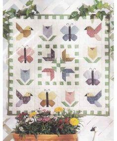 Birds Butterflies & Flower Blooms Quilt Pattern - Four Corners 9409