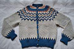Vintage Hand Knit Ladies Norwegian Fair Isle Sweater 100 Wool Beautiful   eBay