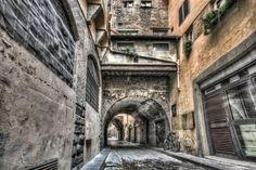 Narrow Streets in Florence - Fine Art by Marc G.C. Photography. More photos at: http://galleries.marcgcphotography.com/The-World-In-HDR/