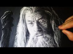 Incredible time-lapse video of Gandalf - Drawing with White Charcoal Portrait. If I could only draw half this well I would still be stupendous!