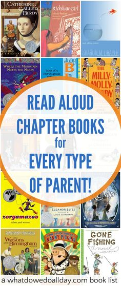 15+ read aloud chapter books that match YOUR parenting style and interests. Kids will love them, too.