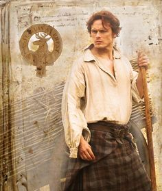 I would like to see this picture of Sam Heughan made into an Outlander postcard!