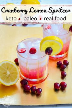 If you prefer a fancy holiday drink sans alcohol and sugar, this Keto Cranberry-Lemon Spritzer is IT! This paleo, Real Food drink has a honey option as well. Make this keto mocktail and cocktail!