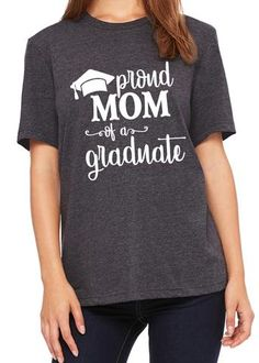 e38f666b4 PROUD MOM OF A GRADUATE Graphic Triblend Tee by River Imprints. Click to  view Colors