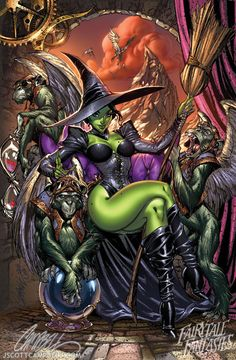 """""""Pinups"""" by J. Scott Campbell - Elphaba... truly wicked"""