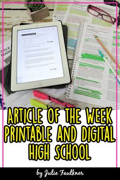 Article of the Week BUNDLE, Volumes Traditional/Digital, Distance Learning English Classroom, English Teachers, Article Of The Week, Reading Assessment, Math Lessons, Geography Lessons, Online Classroom, Social Studies Activities, First Year Teachers