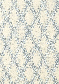 La Gioconda #wallpaper in #blue from the Artisan collection. #Thibaut